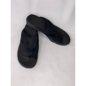Merrell Sandals Slide Black 7 Stretch Straps Wrap
